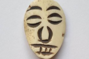 Vintage Tribal Face Mask Bone Bead