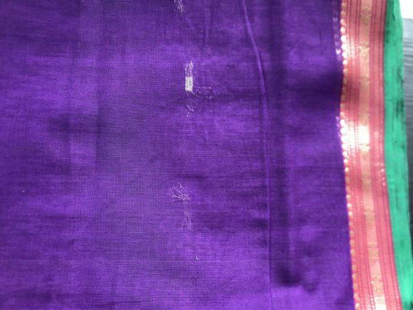 Violet Red Ilkal Saree Fabric