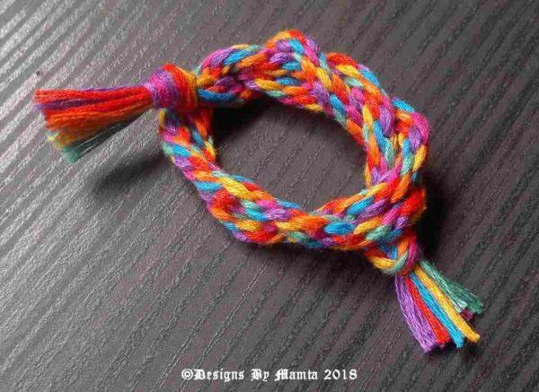 Vivid Rainbow Kumihimo Rope Cord