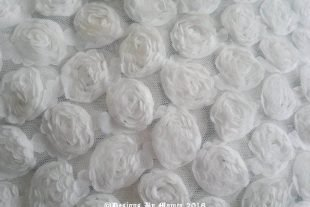 White Chiffon Rosette Backdrop Fabric