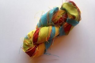 Wild Flowers Sari Silk Ribbon Yarn