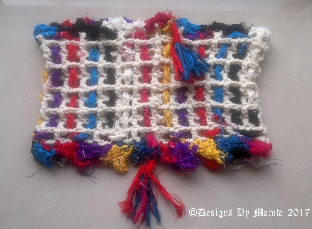 Woven Sari Mesh Cowl Crochet Pattern Designs By Mamta Motiyani