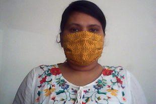 Yellow Damask Face Mask