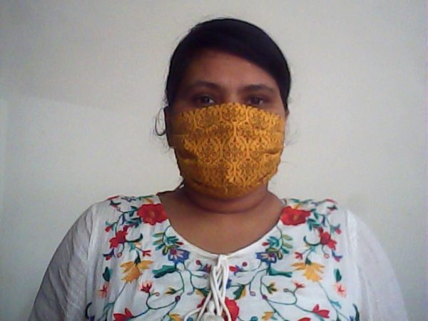 Yellow Damask Face Mask