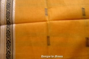 Yellow Handloom Saree Fabric