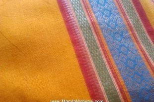 Yellow Indian Sari Fabric By The Yard
